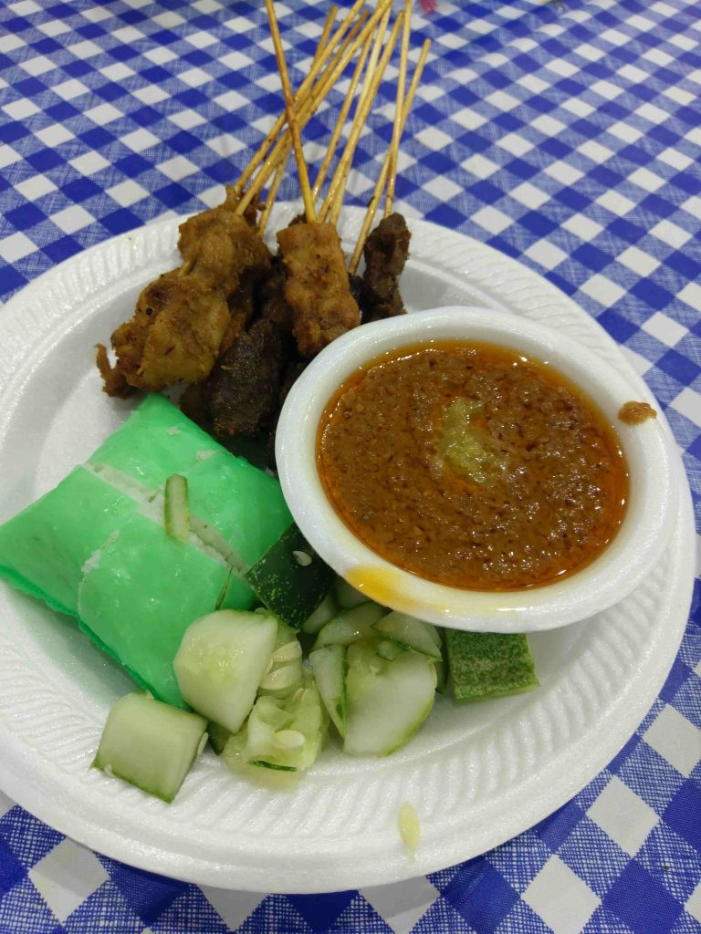 Chicken and mutton Satay, World Food Fair 2018 Singapore