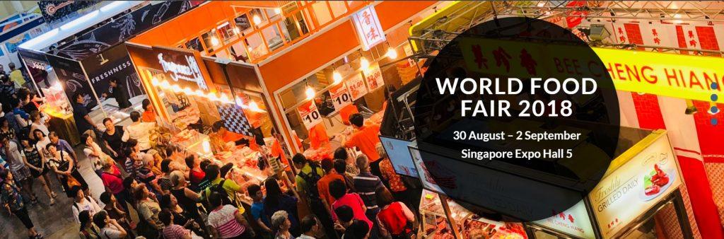 World Food Fair 2018 Banner, 30 Aug to 2 Sep, Singapore Expo Hall 5