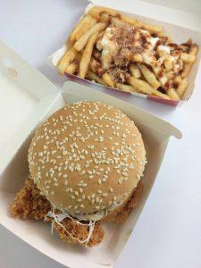 KFC Tori Katsu Burger with Bonito Fries