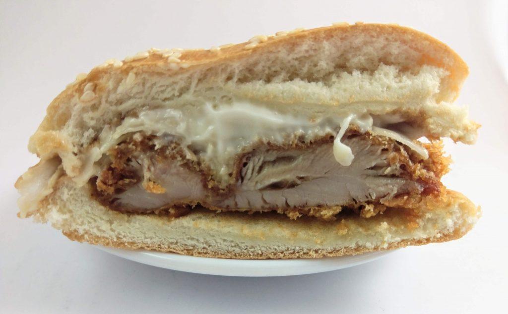 KFC Tori Katsu Burger Cross Section