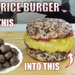 Vegetarian Rice Burger based on Ninja Pills (Hyourougan and Suikatsugan)